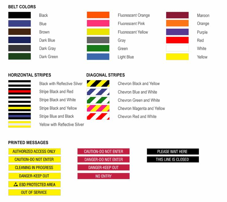 Queueway Belt Colors