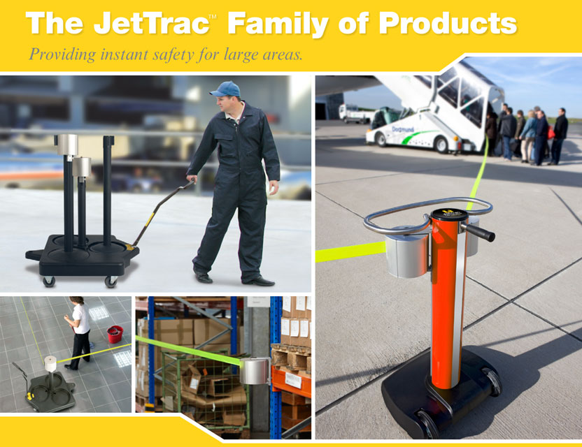 JetTrac Extra Long Belt Barrier