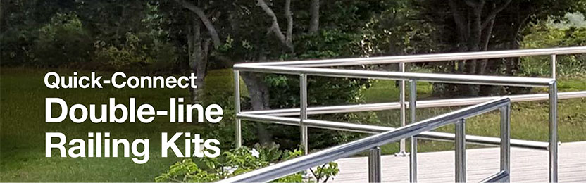 double line railing kits