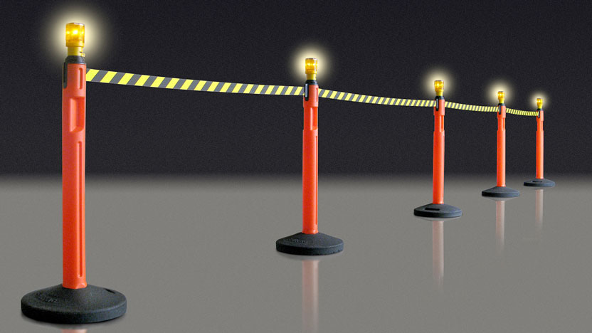 Solar LED Hazar Lights for Lavi Tempest Outdoor Stanchions
