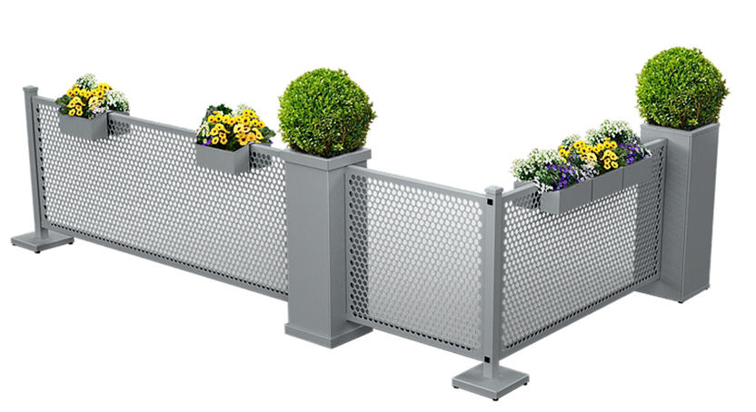 Restaurant Patio Partitions Planters
