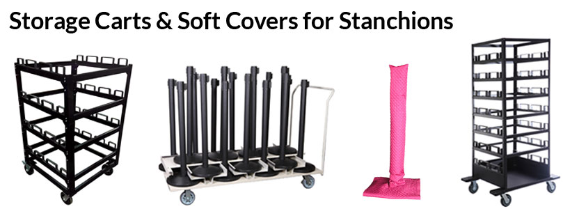 Storage Carts and Soft Covers for Stanchions