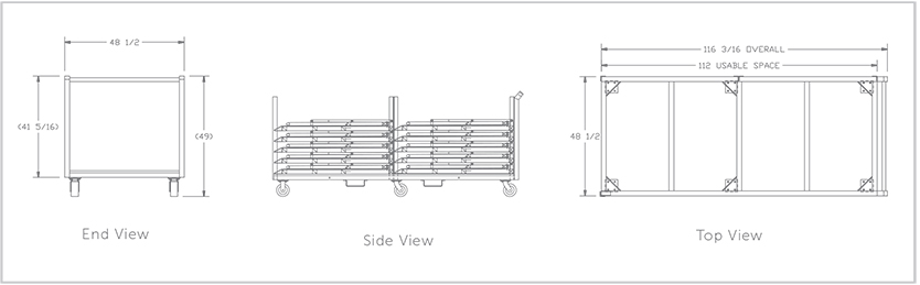 Concert Stage Barriers - 4' ft Steel