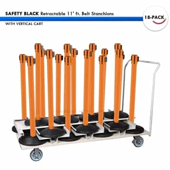 Waiting Line Stanchions Set 18 Safety Retractable 11 Ft