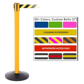 Belt Stantions Safetypro 250 11 Ft Belt Barrier By